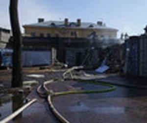 Пожар на стрелке Заячьего острова локализован