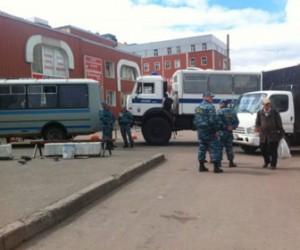 В универсаме «Народный» задержали 56 человек