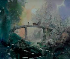 В Петербурге открылась выставка акварелей Цзэн Мина