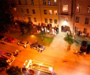 Сегодня ночью на Васильевском острове загорелся родильный дом