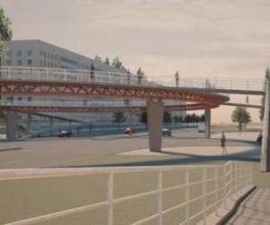 В Петербурге строят надземные пешеходные переходы