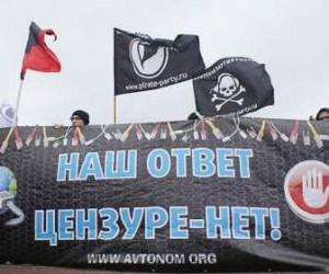 На Марсовой партии около 50 человек выступили против цензуры в Интернете