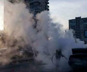 В Кировском районе сгорел автомобиль