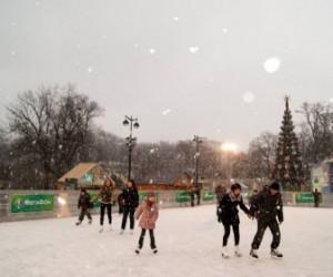 На площади Островского открылся бесплатный каток