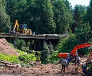Через реку Петлянку в Выборгском районе построят временный мост