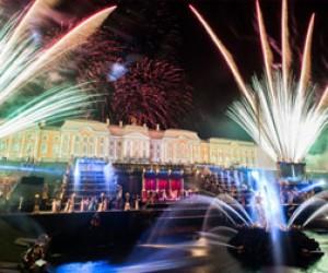 В Петергофе закрыли сезон фонтанов