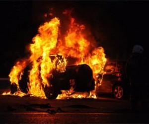 В Питере ночью сгорело пять машин