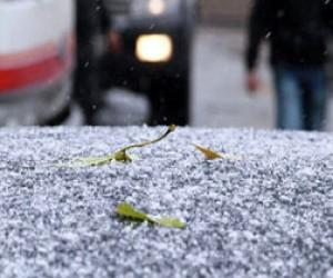 В Петербурге – первый снег