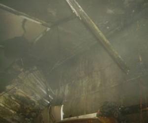 Пожар в продуктовом магазине