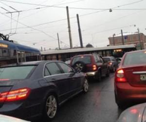 Десятибалльные пробки в Петербурге