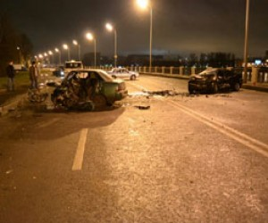 Столкнулись две иномарки и погиб пешеход