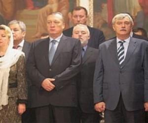 Полтавченко отстоял рождественскую службу в Казанском соборе
