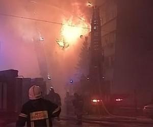Пожар на складе бытовой техники