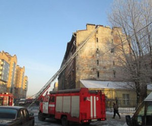 Локализован пожар на улице Шкапина
