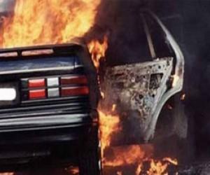 В Петербурге сгорело шесть машин