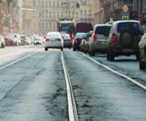 Ремонт трамвайных путей в Петербурге