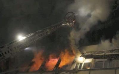 В Петербурге сгорел строительный гипермаркет