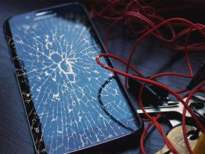 Сломанный дисплей смартфона Samsung
